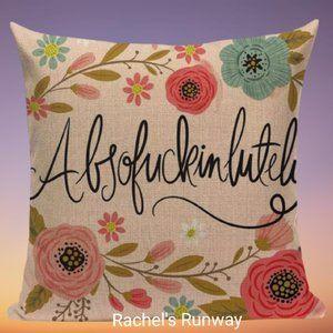 🆕2/$40 Funny Swear Word Decorative Cushion Cover